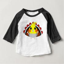 Cockatiel parrot in turkey costume Thanksgiving Baby T-Shirt
