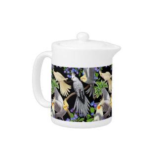 Cockatiel Parrots Love Small Teapot