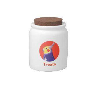 Cockatiel Pop Art Candy Jar