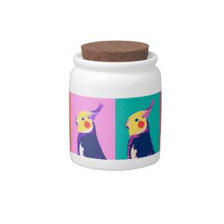 Cockatiel Pop Art Candy Jars