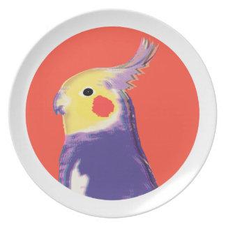 Cockatiel Pop Art Melamine Plate
