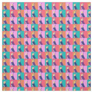 Cockatiel Pop Art Pattern Fabric