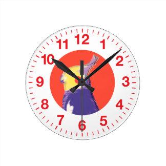 Cockatiel Pop Art Round Clock