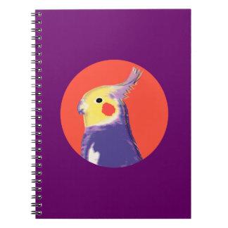 Cockatiel Pop Art Spiral Notebook