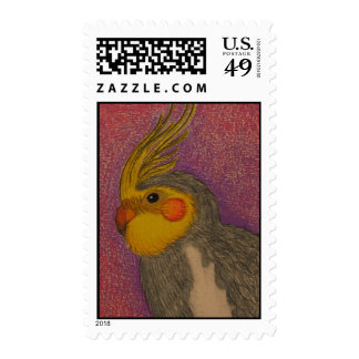 Cockatiel Postage Stamps