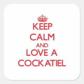 Cockatiel Square Sticker