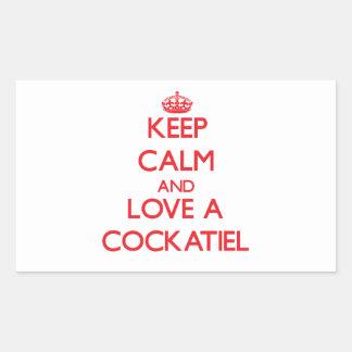 Cockatiel Rectangular Sticker