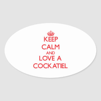 Cockatiel Oval Sticker