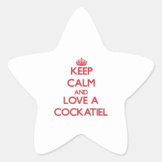 Cockatiel Star Sticker