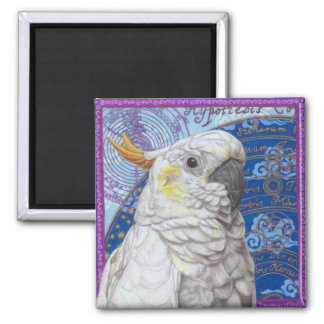 Cockatoo 2 Inch Square Magnet