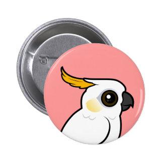 Cockatoo Amarillo-con cresta (escudo abajo) Pin Redondo De 2 Pulgadas