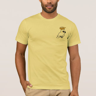 Cockatoo Amarillo-con cresta (escudo para arriba) Playera