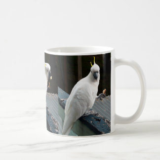 Cockatoo at breakfast coffee mug