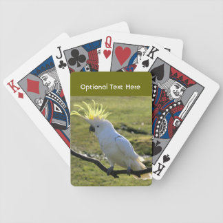 Cockatoo Azufre-Con cresta en Australia Baraja Cartas De Poker