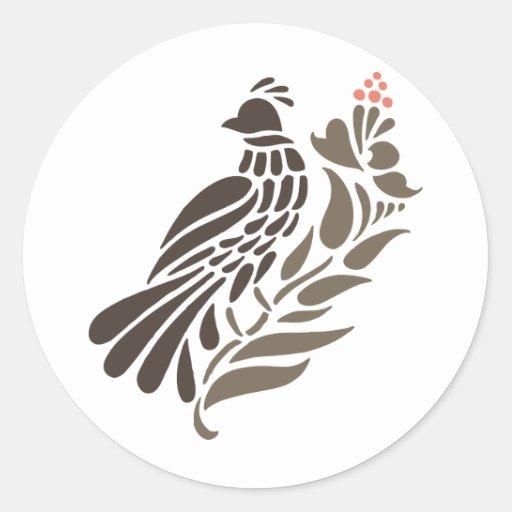 Cockatoo Cacatuidae Parrots Quail Bird Birds Art Round Stickers
