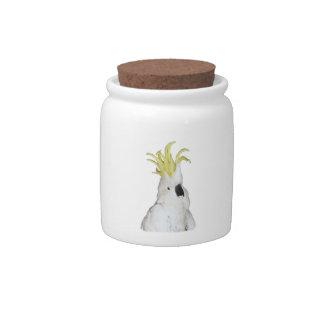 Cockatoo Candy Jar
