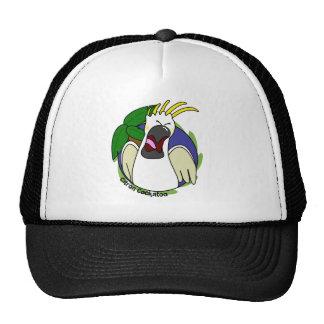 Cockatoo cítrico de griterío divertido gorra