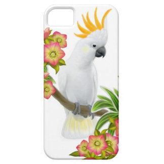 Cockatoo con cresta cítrico en caso del iPhone de Funda Para iPhone 5 Barely There