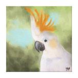 Cockatoo con cresta cítrico impresión en lienzo estirada