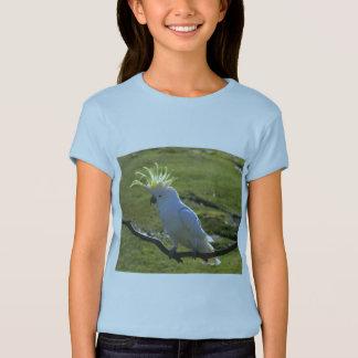 Cockatoo con cresta del azufre amarillo playera