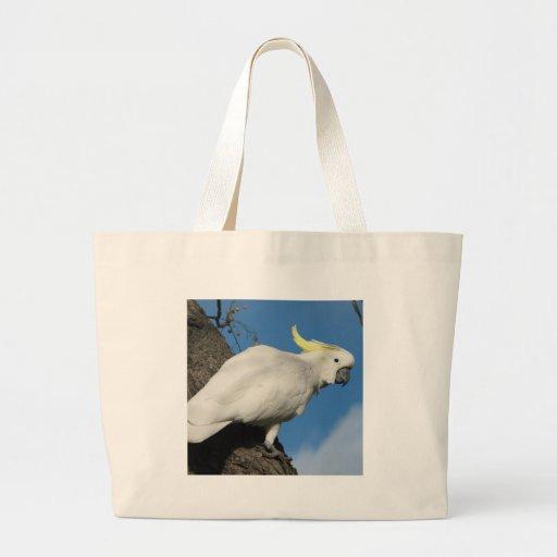 Cockatoo con cresta del azufre bolsas