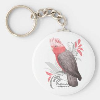 Cockatoo de Galah Llavero Redondo Tipo Pin