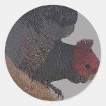Cockatoo de la cuadrilla de la cuadrilla pegatina