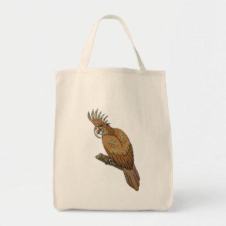 Cockatoo de la palma bolsa lienzo