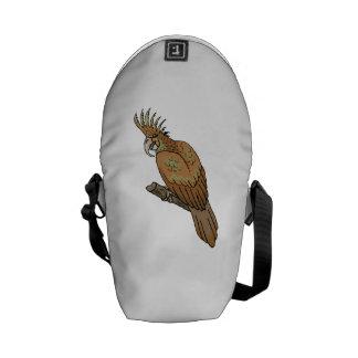 Cockatoo de la palma bolsas de mensajería