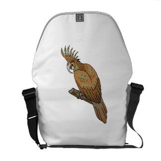 Cockatoo de la palma bolsa de mensajería