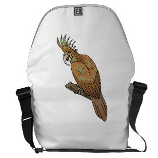 Cockatoo de la palma bolsas de mensajeria