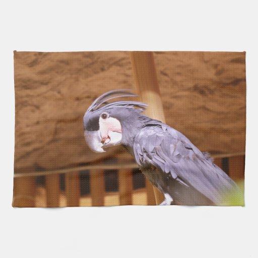 Cockatoo de la palma toallas de mano