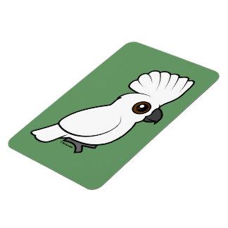 Cockatoo del paraguas (criado) iman de vinilo