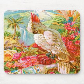 Cockatoo del vintage alfombrilla de raton