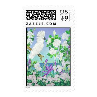 Cockatoo Gardenias and Iris Stamp