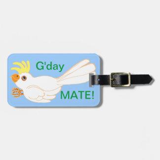 Cockatoo Gday Mate! Luggage Tags