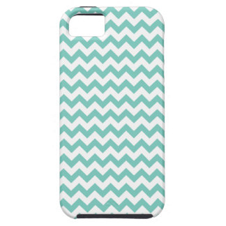 Cockatoo - Green Mint And White Zigzag Chevron iPhone SE/5/5s Case