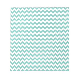 Cockatoo - Green Mint And White Zigzag Chevron Notepad