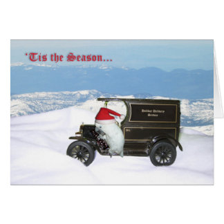 Cockatoo Holiday Delivery Greeting Card