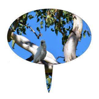 COCKATOO IN TREE RURAL QUEENSLAND AUSTRALIA CAKE TOPPER
