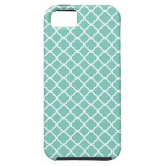 Cockatoo, Mint Green And White Quatrefoil Pattern iPhone SE/5/5s Case