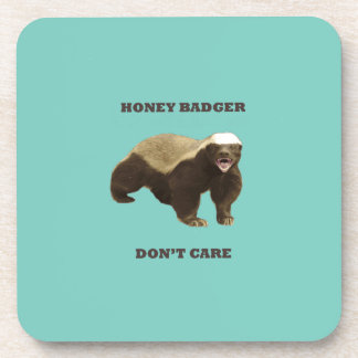 Cockatoo Mint Honey Badger Don't Care Pattern Coasters
