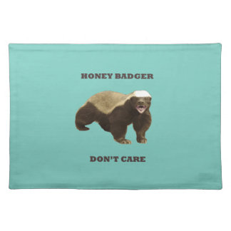 Cockatoo Mint Honey Badger Don't Care Pattern Place Mat