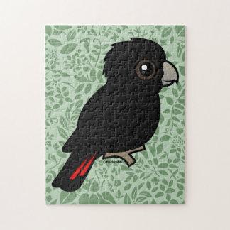 Cockatoo negro Rojo-atado Rompecabezas Con Fotos
