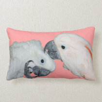 Cockatoo Parrots Throw Pillow