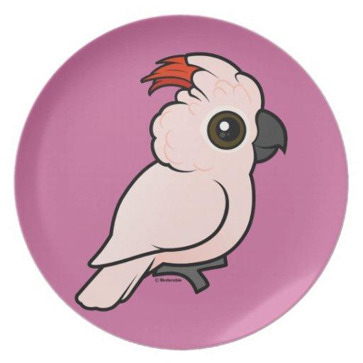 Cockatoo Salmón-con cresta Platos Para Fiestas