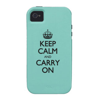 Cockatoo Solid Color Keep Calm And Carry On Case For The iPhone 4