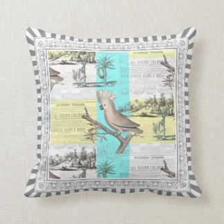 Cockatoo Tropical Dream Throw Pillow