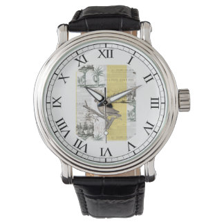 Cockatoo Tropical Toile Wrist Watches