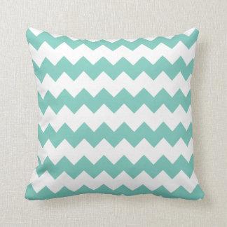 Cockatoo Turquoise Block Chevron Pillow